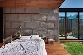 concrete block houses modern concrete block house with wooden patio attached picture