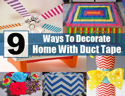 Creative Ideas For Decorating Your Room 9 Interesting Ways To Decorate Your Home With Duct Tape Diy