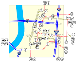 Map Of Tennessee River by Tennessee State Route 1 Wikipedia