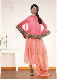 Peach Color by Peach U0026 Pink Colored Kurti For Party U0026 Traditional Wear By Viva N