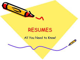 What Is A Resum Writing A Resume Ppt Download