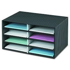 Desk Filing Organizer Office Horizontal 8 Compartment Desktop File Organizer Black