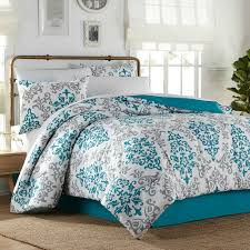 home design bedding 6 8 complete comforter set in turquoise