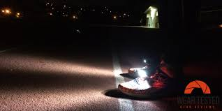 night runner shoe lights see more and run more safely with the night runner 270 wear tested
