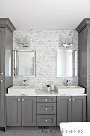 best 25 gray bathrooms ideas only on pinterest bathrooms a marble inspired ensuite bathroom budget friendly too