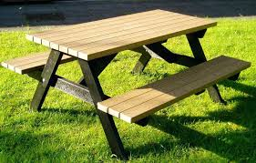wood picnic table set wood picnic table with detached benches wood