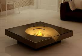 unique modern coffee table with fireplace modern coffee table