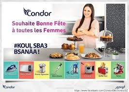 publicité cuisine condor souhaite une bonne fête aux femmes dans la cuisine
