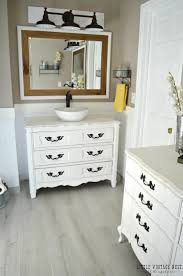 dresser turned bathroom vanity tutorial