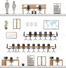 Floor Plan Icons by Office Furniture Icons Stock Vector Art 165808295 Istock