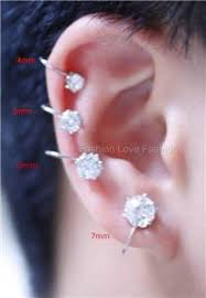 6mm stud earrings 1 pair magnetic clip on diamante ear nose studs earrings men women