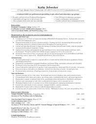American Resume Examples by Resume For Early Childhood Assistant Resume For Your Job Application