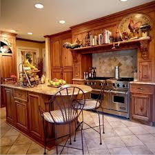 modern country kitchen under cabinet range hood concrete tile
