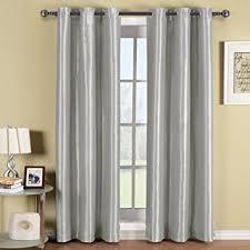 Silver Window Curtains Soho Gray Silver Grommet Blackout Window Curtain Drape