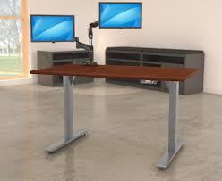 lorell electric height adj sit stand desk frame llr25989