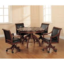 Poker Table Chairs With Casters by American Heritage Billiards Full House Game Table Set Hayneedle