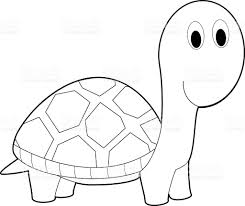 easy coloring animals for kids turtle stock vector art 519273842