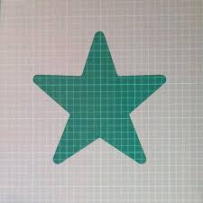 star star shape mylar airbrush painting wall art stencil two