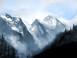 Mountain Landscape Paintings by Digital Fantasy Art Mountain Landscape Painting