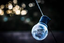blue free light bulbs free images bokeh night glass wire reflection darkness blue