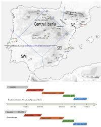 Iberian Peninsula Map Iberian Peninsula Discontinuity In Mtdna Between Hunter Gatherers