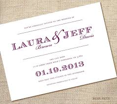 Marriage Invitation Card Sample Simple Wedding Invitation Templates Vertabox Com