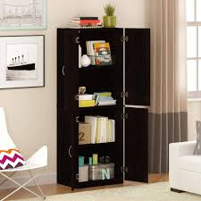 Black Storage Cabinet Mainstays Storage Cabinet Multiple Finishes Walmart Com