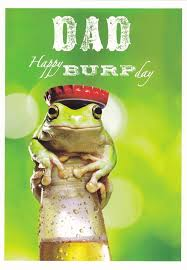 dad birthday card king for a day frog framed cardspark