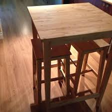 Ikea Bar Table And Stools Find More Ikea Bjorkudden Bar Table And 2 Stools For Sale At Up To