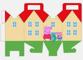 peppa george pig house shapped free printable box