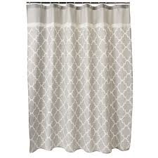 grey fabric shower curtain home design inspirations