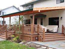simple build a free standing deck design ideas http intended for