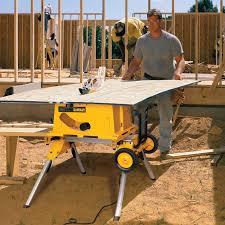 Job Site Table Saw It Rolls But Does It Rock Dewalt Dw744xrs Jobsite Table Saw