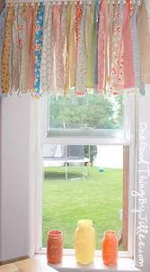 Turquoise Valances For Windows Inspiration 10 Diy Solutions To Renew Your Kitchen 1a Valance Fabric Scraps