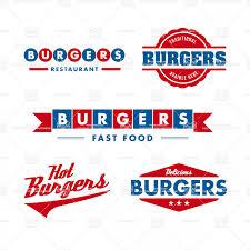 retro burger joint logos graphic design inspiration pinterest