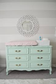 Nursery Changing Table Dresser S Nursery Reveal Changing Table Dresser Mint Green And