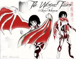 mikasa ackerman titan the razor winged titan by omnipotrent on