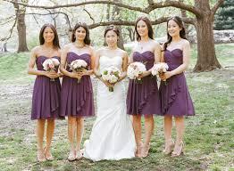 purple bridesmaids dresses elizabeth anne designs the wedding blog