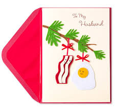 bacon u0026 egg ornament for husband christmas greeting cards