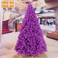 purple christmas tree free shipping 240cm encryption purple christmas tree 2 4 meters of