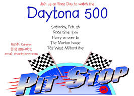 nascar party invitations daytona 500 2017