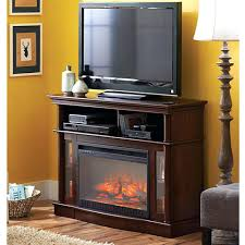fireplace white electric console fireplaces flat screen chimney
