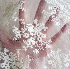 small embroidery lace material net embroidery fabric curtain
