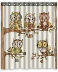 Owl Shower Curtains Holiday Savings On Phfzk Owls Shower Curtain Cute Owls On