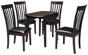 round drop leaf table set signature design by ashley hammis 5 piece round drop leaf table set