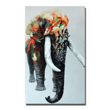 aliexpress com buy indian elephant wild animal wall art