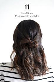 diy hairstyles in 5 minutes 5 minute office friendly hairstyles