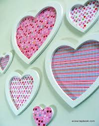 Wall Decorations For Valentine S Day by Heart Wall Decor For Valentine U0027s Day Ecoscrapbook
