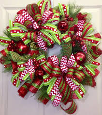 mesh wreath with lots of layers of ribbon wreath
