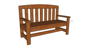 Free Wood Park Bench Plans by 2x4 Bench Plans Howtospecialist How To Build Step By Step Diy